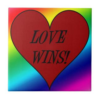 LOVE WINS! (rainbow heart) ~~ Tile