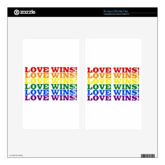 Love Wins rainbow Kindle Fire Decal