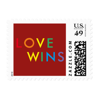 Love Wins Rainbow Postage Stamp