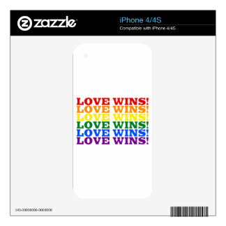 Love Wins rainbow Skins For iPhone 4