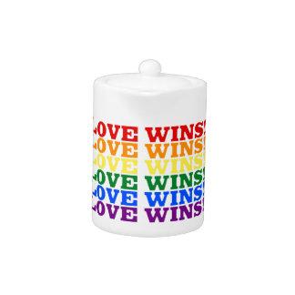 Love Wins rainbow Teapot