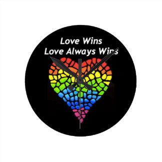 Love Wins Round Clock