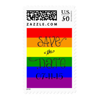 Love Wins Save the Date Postage Stamps