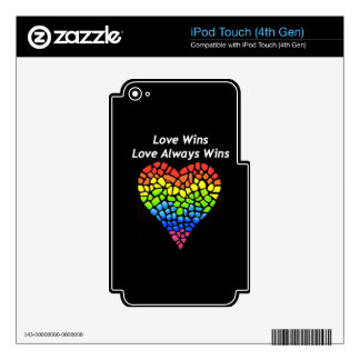 Love Wins Skin For iPod Touch 4G
