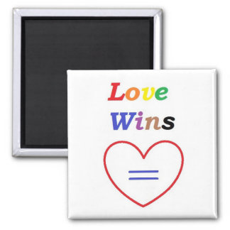 Love Wins - Sq. Magnet