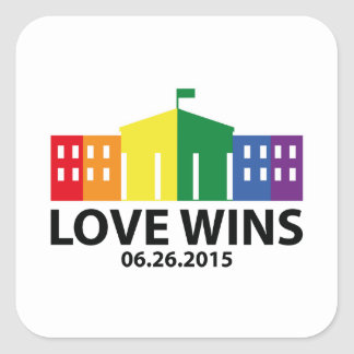Love Wins Square Sticker