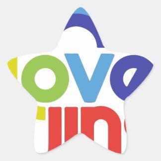 Love Wins Star Sticker
