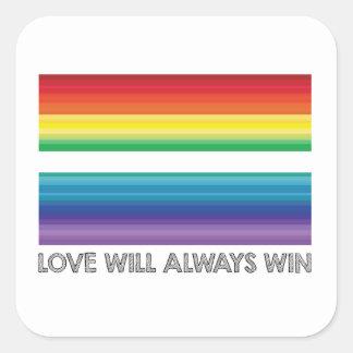 LOVE WINS STICKER, LOVE WILL ALWAYS WIN STICKER