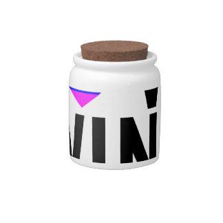 LOVE WINS T-Shirt.png Candy Jar