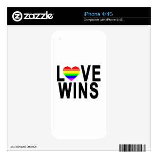 LOVE WINS T-Shirt.png Decals For The iPhone 4S