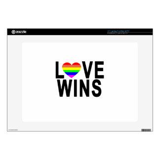 LOVE WINS T-Shirt.png Laptop Skin