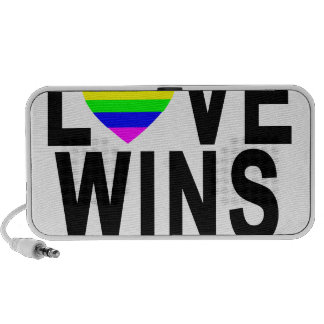 LOVE WINS T-Shirt.png Mini Speaker