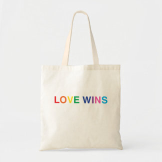 Love Wins Tote Bag, Stocking Stuffer Gift