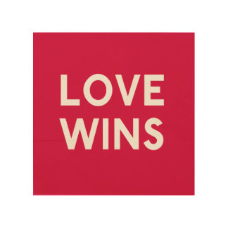 Love Wins Wood Square Canvas Wood Canvas
