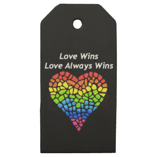 Love Wins Wooden Gift Tags
