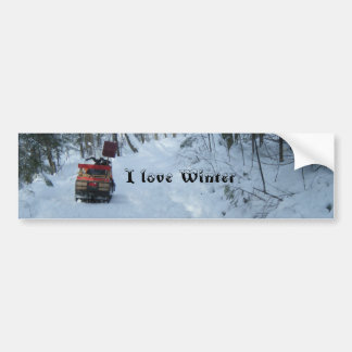 Love Winter-Snowmobile Bumper Sticker