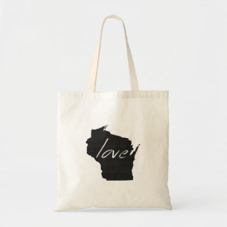 Love Wisconsin Budget Tote Bag