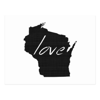 Love Wisconsin Postcard
