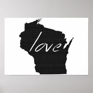 Love Wisconsin Poster