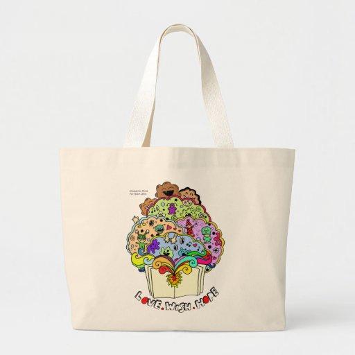 Love. Wish. Hope Book Design Large Tote Bag