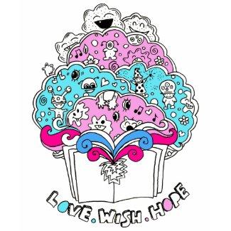 Love. Wish. Hope Book Design shirt