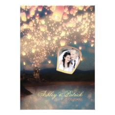 Love Wish Lanterns Add Your Photo Wedding Invite