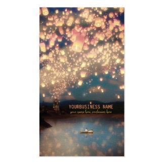 Love Wish Lanterns Business Card Templates