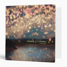 Love Wish Lanterns Vinyl Binder