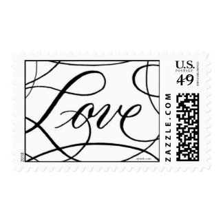 Love with a Flourish Postage