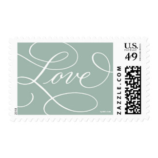 Love ... with a Flourish : Sage and White Stamp