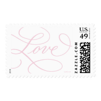 Love ... with a Flourish : Soft Pink and White Postage