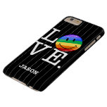 Love With A Happy Rainbow Flag Gay LGBT Barely There iPhone 6 Plus Case
