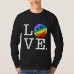 Love With A Happy Rainbow Flag Gay LGBT T-shirt
