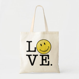 Love With A Smile Classic Happy Face Tote Bag