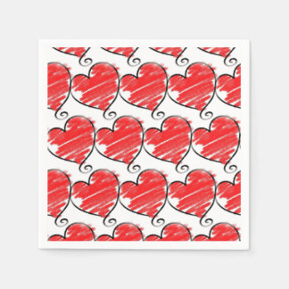 Love With A Twist Valentine's Day Party Napkins