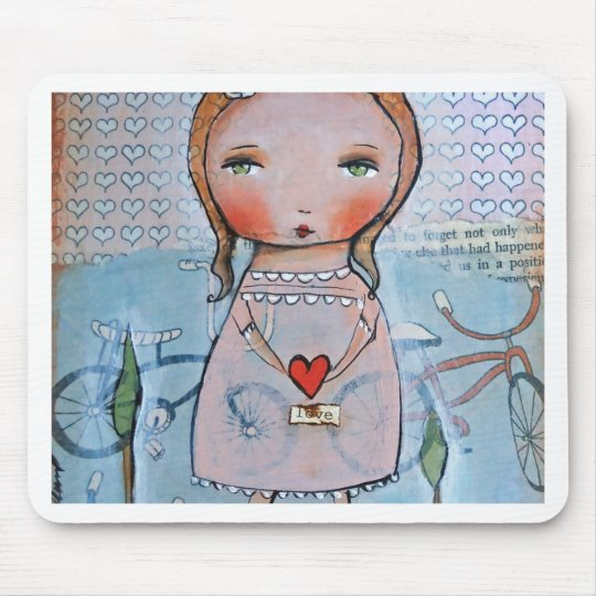 Love with all your heart mouse pad