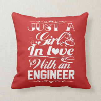 Love with an Engineer Throw Pillow