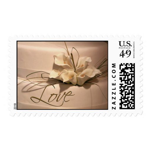 Love ... with calla lilies postage stamp