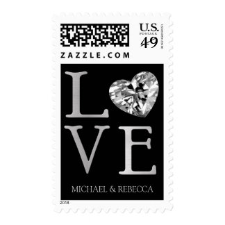 LOVE with Diamond Heart Postage
