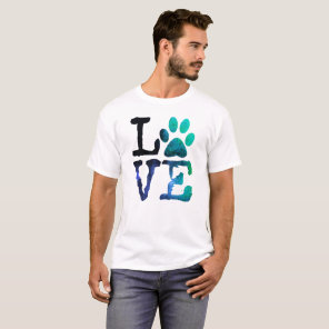 Love, with Dog Paw Print Shirt