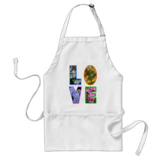 Love with Flowers Adult Apron