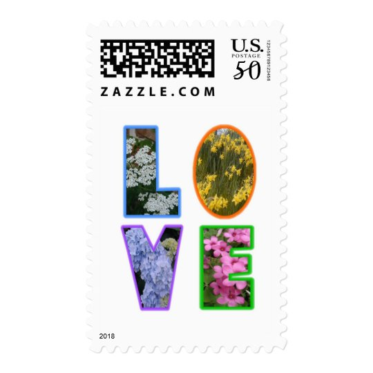 Love with Flowers Postage