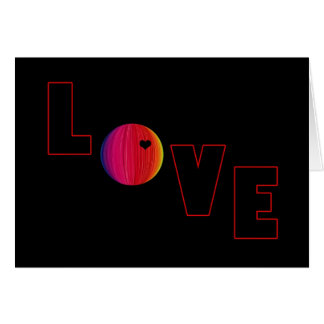 LOVE with Heart Card