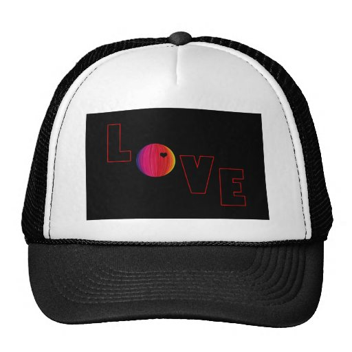 LOVE with Heart Hat