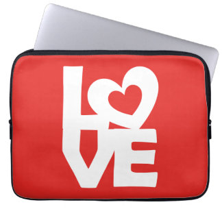Love with Heart Laptop Sleeve
