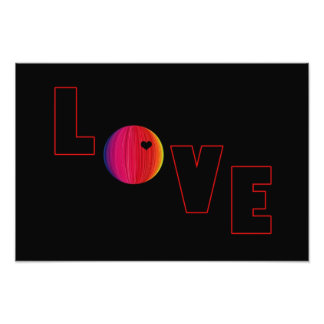 LOVE with Heart Art Photo