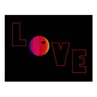 LOVE with Heart Postcard