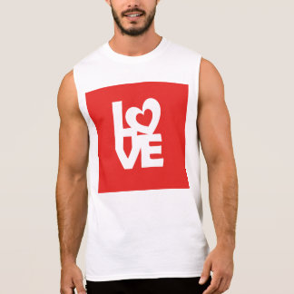 Love with Heart Sleeveless Shirt