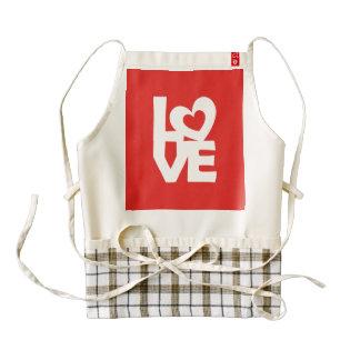 Love with Heart Zazzle HEART Apron