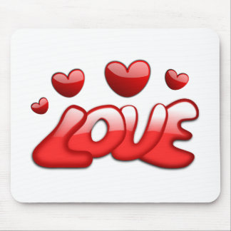 Love with Hearts Mouse Pad